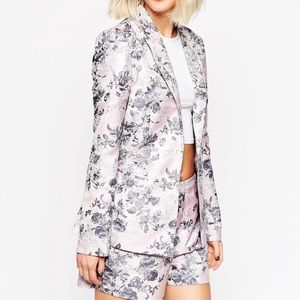 ASOS occasion jacquard shorts and blazer set